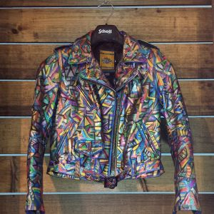 2013 Hand Painted Schott Leather Jacket