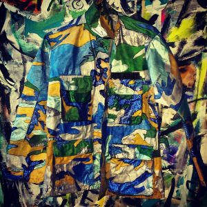 2014 Hand Painted Camo Jacket