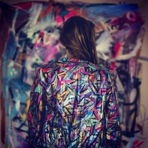 2013 Hand Painted Leather Jacket